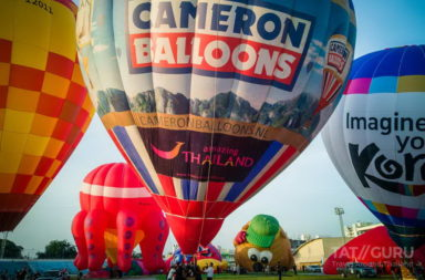 View from the Sky of Amazing Balloon Festival at Hat Yai 2017