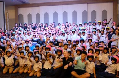 Marriott International held an awareness event about Motorcycle Safety in Phuket