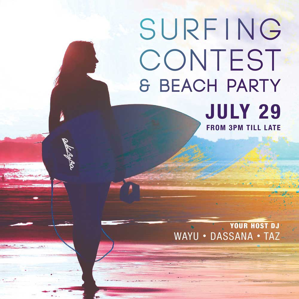 akyra Beach Club Phuket To Host Surf Contest & Monthly White Parties on the Beach